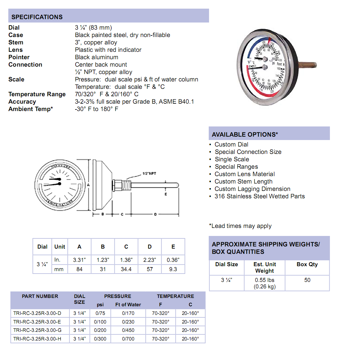 3-inch-tridicators-specifications