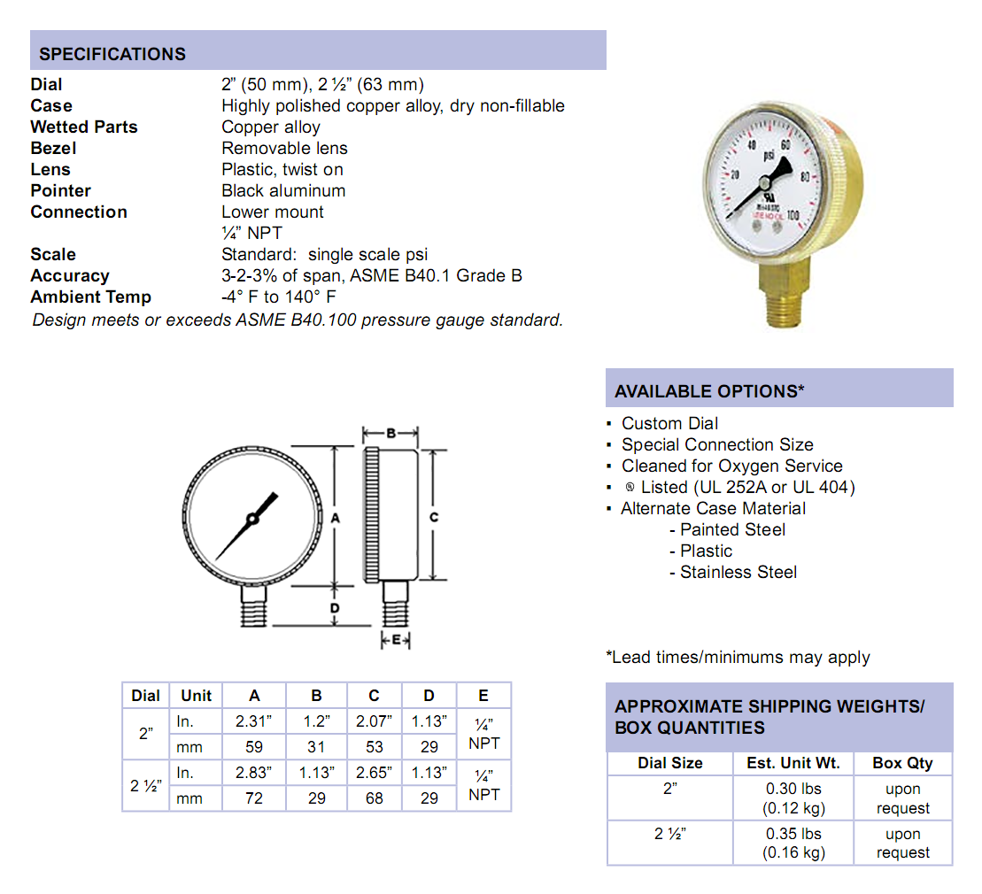 501d-uno-series-specifications