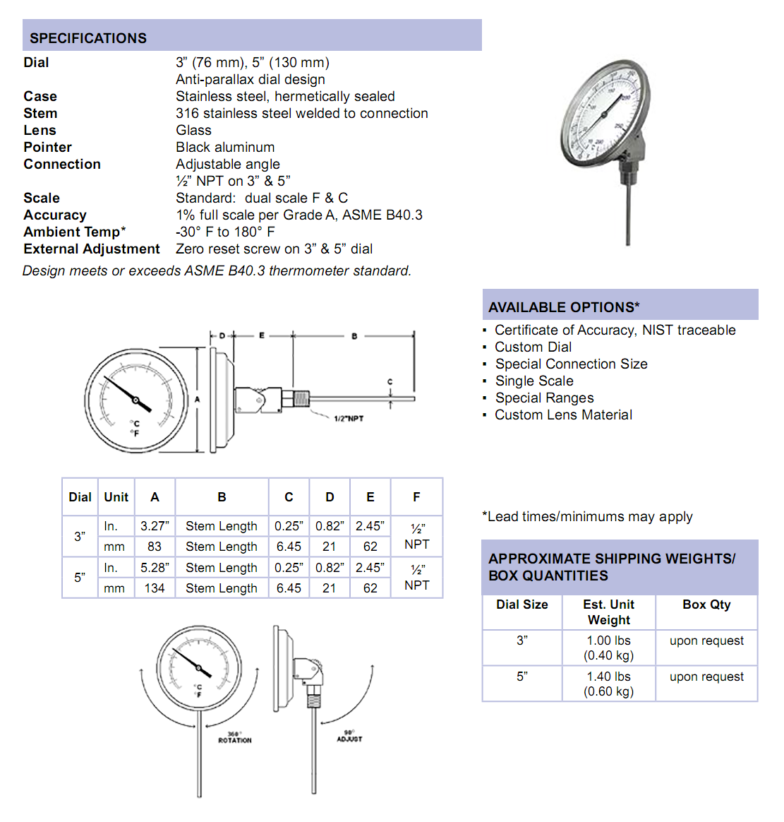 bimetal-thermometers-adjustable-angle-type-specifications