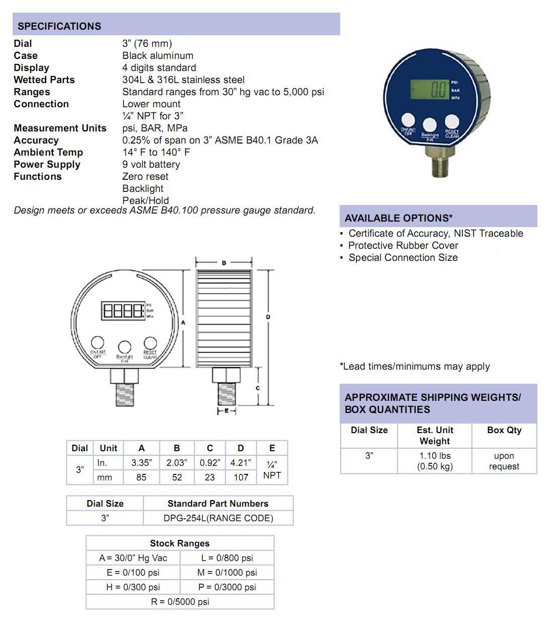 digital-pressure-gauge-specifications