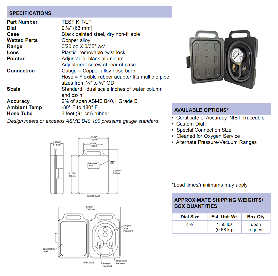 low-pressure-test-kit-specifications