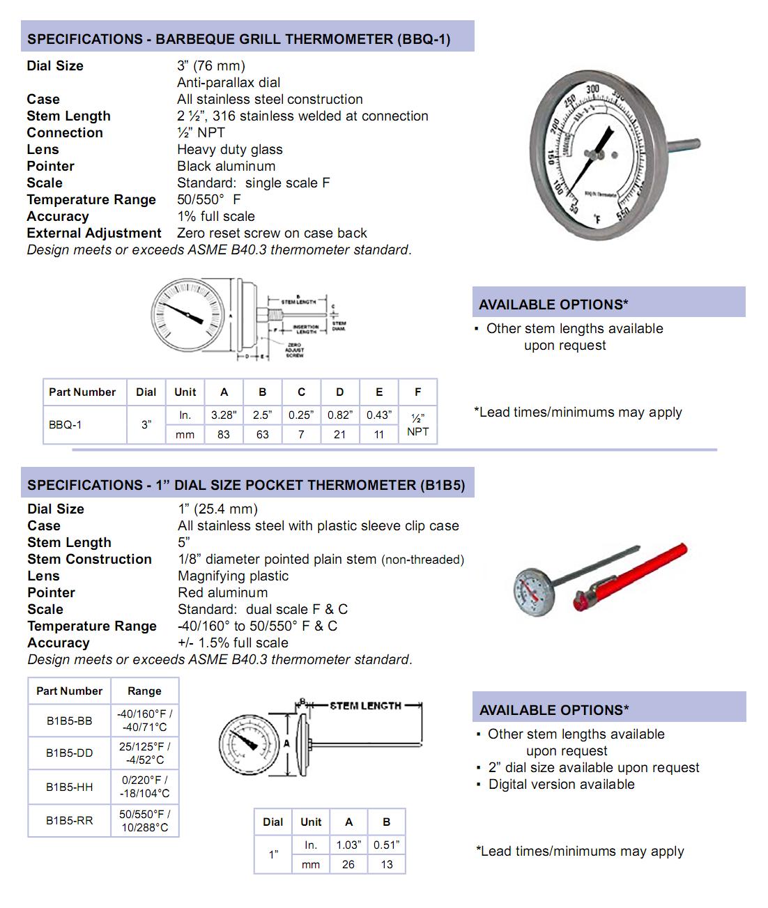miscellaneous-bimetals-specifications