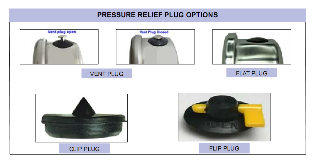 pressure-relief-plug-options