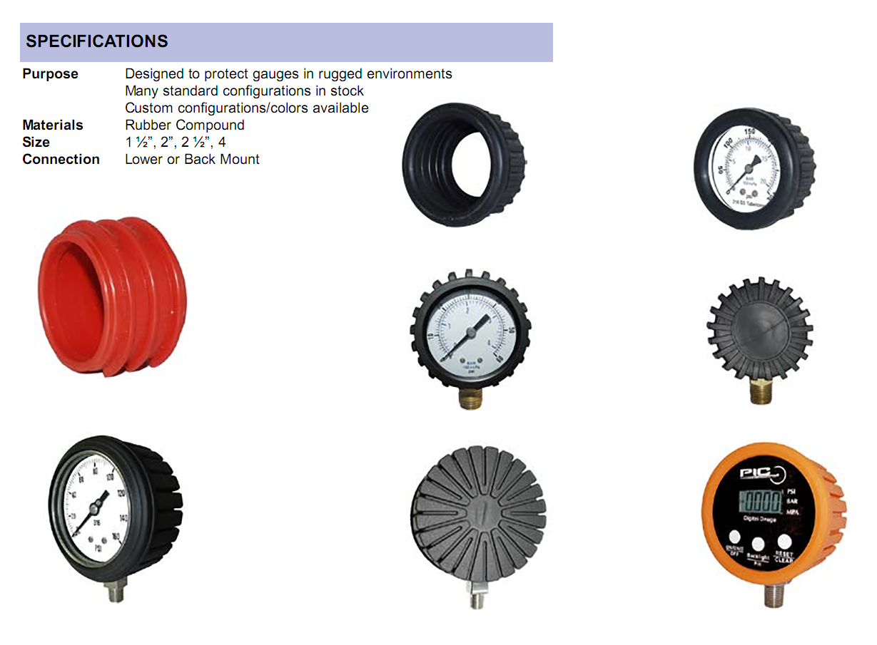 rubber-gauge-cover-specifications