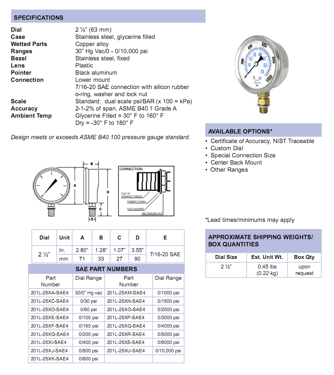 sae-201l-lower-mount-specifications