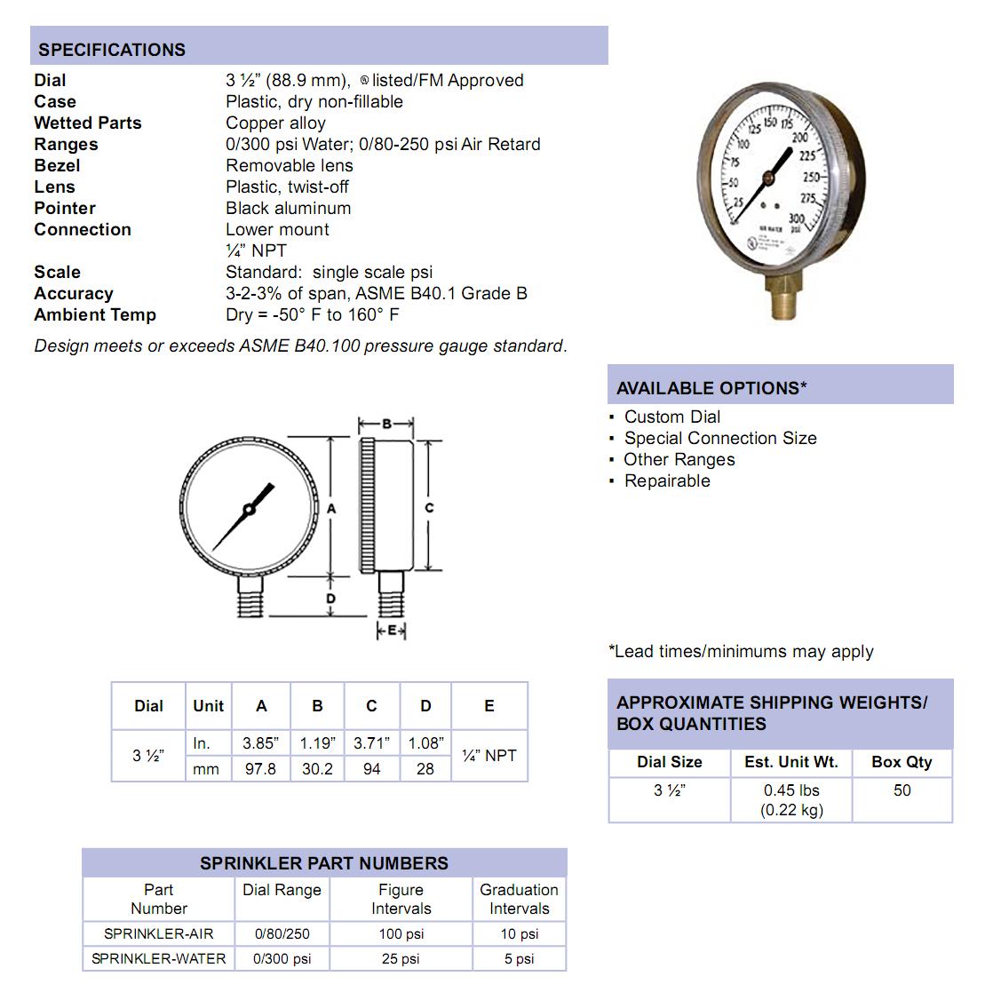 sprinkler-gauge-specifications