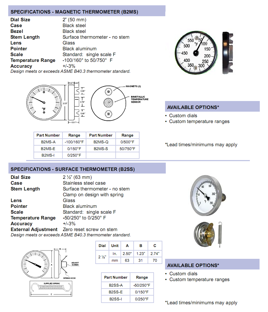 surface-mount-thermometers-specifications